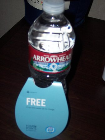 "Four Points by Sheraton Ventura Harbor: Room 104: 1 Bottle ""FREE"" Water for 2 Guests: FAIL"