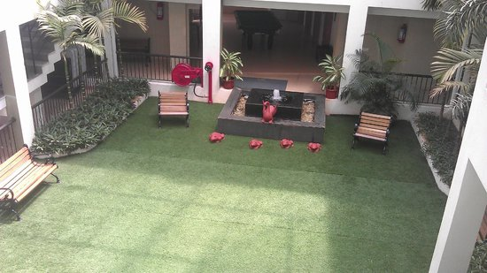 Citrus Goa: Covered Lawn inside the Hotel...Boon for families with children