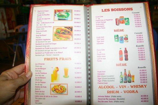 Minh & Coco Mini Restaurant: Menu