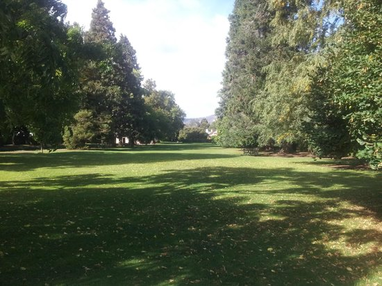 Salmon Ponds Heritage Hatchery and Gardens: the gorgeous lawns and historic trees