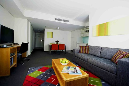 The Sebel East Perth: One/Two Bedroom Apartment Living Area