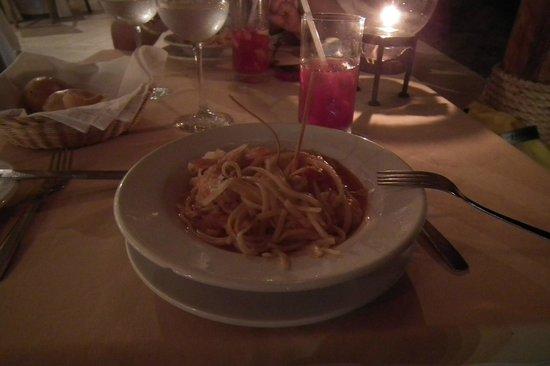 Buenaventura Grand Hotel and Spa: De de cena, pasta con mariscos del restaurante a la carta