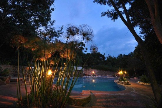Naiberi River Campsite & Resort: Swimming Pool At Night