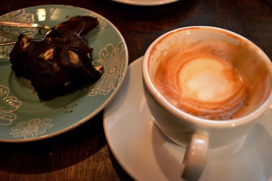 Gilda's Rum: Best brownie I've ever had and excellent coffee