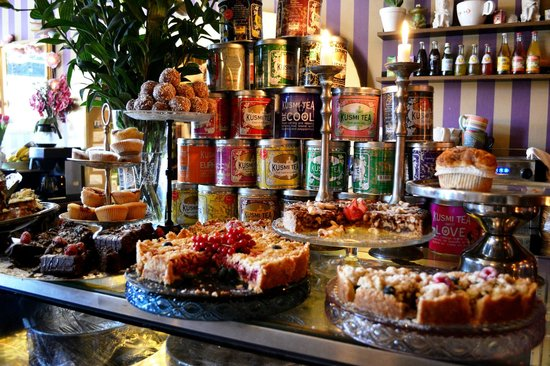 Gilda's Rum: Heaving counter of home made baked goods