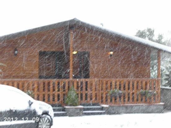 La Porta dell'Etna: nevicata 08.12.2012