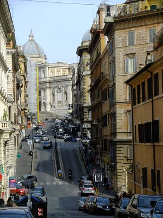 Hotel De Monti: View up the street