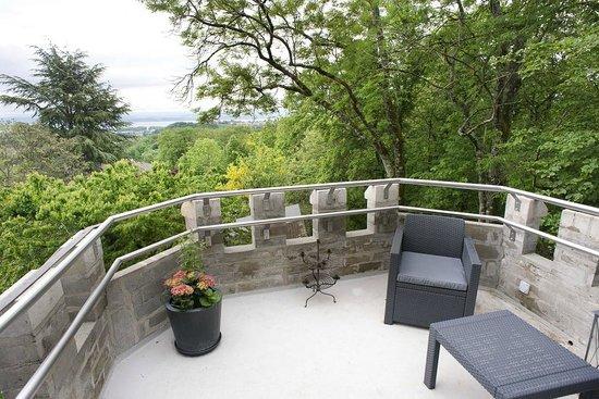 La Tourelle : The terrasse en the top of the Tourelle