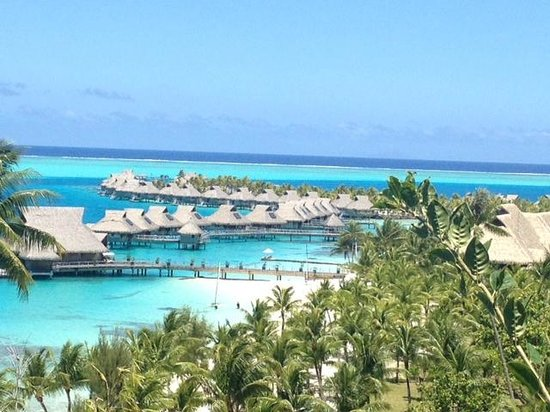 Conrad Bora Bora Nui: View from top of the Hotel (by SPA)