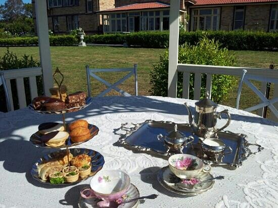 The Old Hospital Cafe: High tea in the gazebo