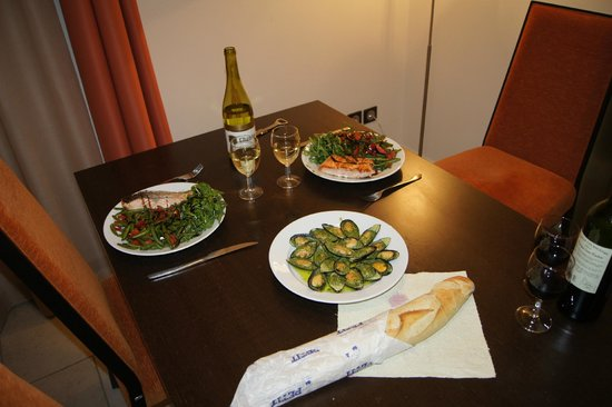 Residence l'Adret : Кухня в номере