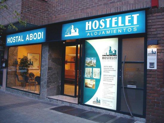 Recepción del Hostal Abodi - Alojamientos Hostelet