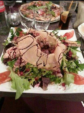 Carlina: salade foie gras