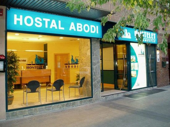 Recepción del Hostal Abodi-Alojamientos Hostelet