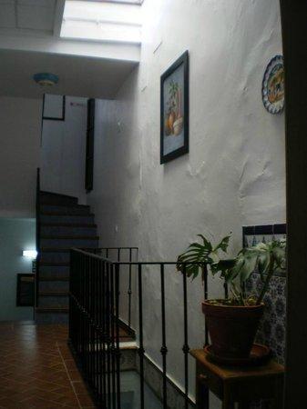 Hostal Generalife: pasillo habitaciones