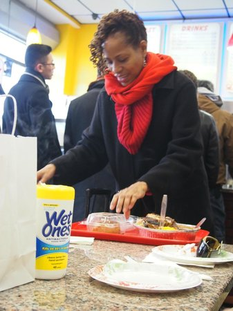 Taste Harlem Food & Cultural Tours : Jackie dishing out the food
