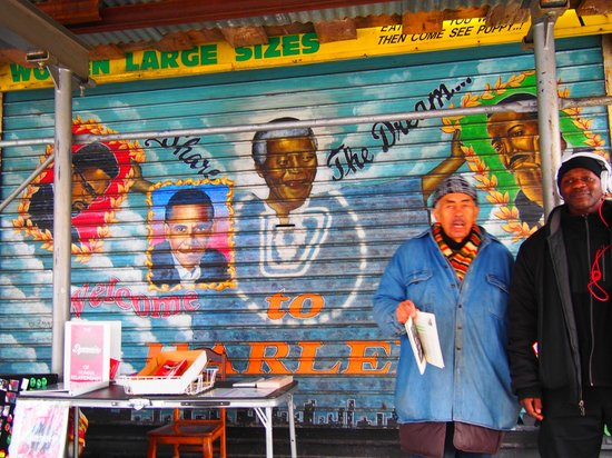 Taste Harlem Food & Cultural Tours : Cool Harlem garage doors