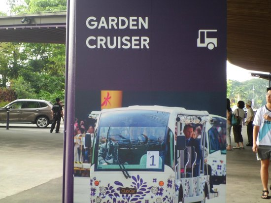 Garden By The Bay Bus garden cruiser station - picture of gardensthe bay, singapore