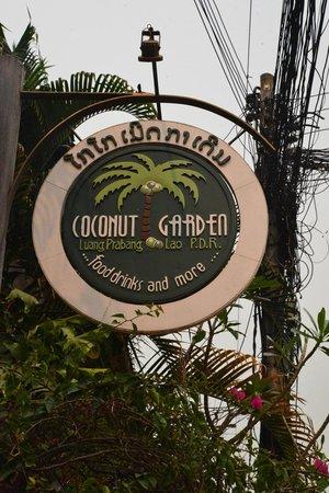Coconut Garden: Sign.