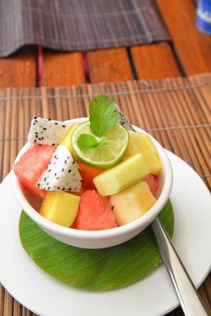 Coconut Garden: Fruit Salad ---- dessert from Menu Degustation.