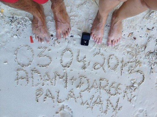 El Nido Resorts Miniloc Island: Our engagement