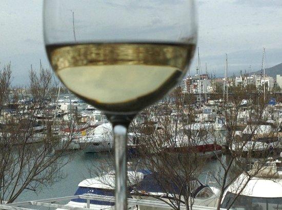 Bitakora : Desde el Restaurante, vistas al Puerto de Rosas