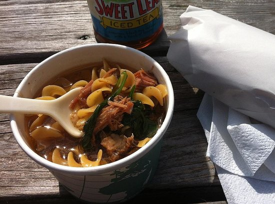 Costellos's Market: pulled pork and noodle soup special