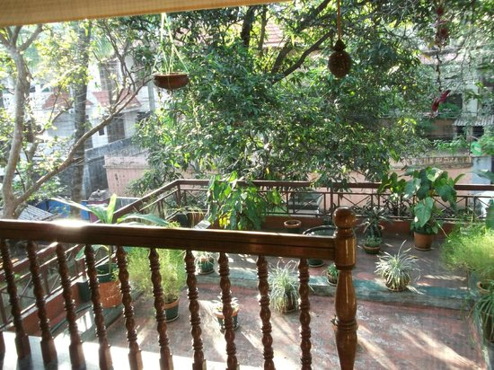Green House Home Stay: View from communal balcony