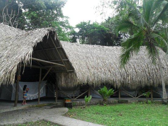 Camping Tayrona: Sector de hamacas
