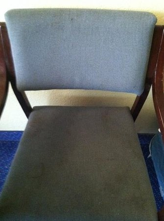 Seralago Hotel and Suites: gross!  chairs stained so bad I wouldn't let my kids think about sitting on them.