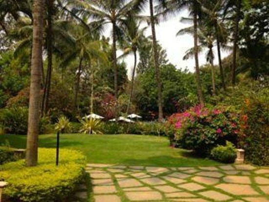 Hotel garden foto di the oberoi bengaluru bangalore for Koi pond traduzione