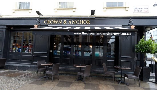 The Crown and Anchor: Outside the Crown & Anchor pub in Euston