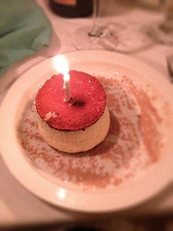 Antelao Restaurant: Birthday Tiramisu!