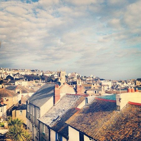 Trevose Harbour House: View from room to the town centre