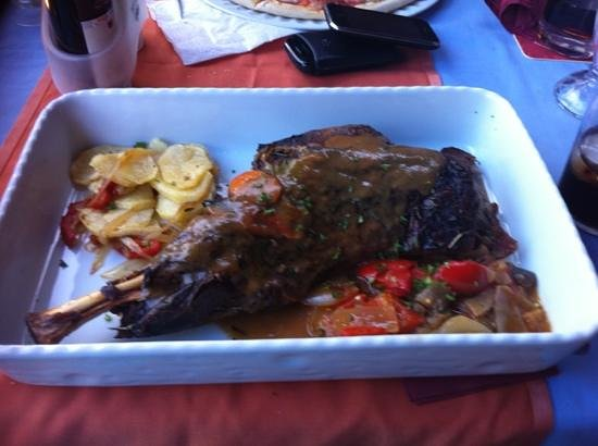 El Patio: leg of lamb, in an oven dish lol, really tasty massive portions !!!