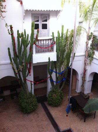 Riad O2: Le patio vu depuis l'étage