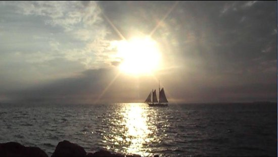 Key West Express: Sail boat in the sunset