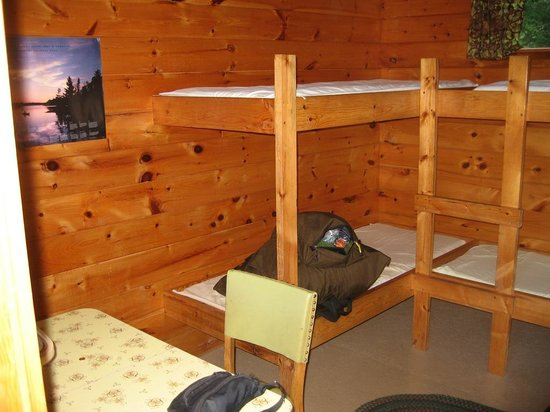 Hungry Jack Canoe Outfitters and Cabins : A bunkhouse at Hungry Jack Outfitters