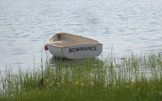 Oyster Cove B&B On Wellfleet Harbor: Local author's Chipmans Cove rowing boat.