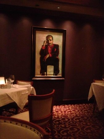 Papadeaux Seafood restaurant: one of two portraits in the room