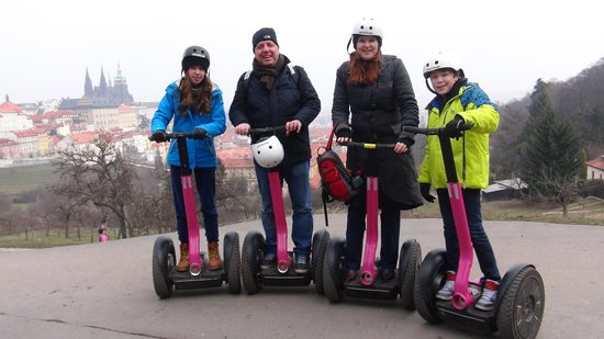 Segway Point - Prague Segway Tours : Even in Winter you can do this...