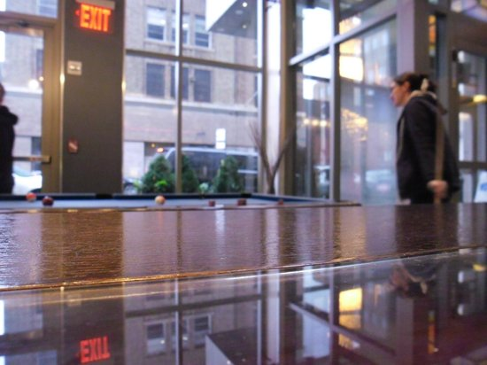Aloft New York Brooklyn: Pool in the Hotel Lobby On Lock Down day was just what we needed!