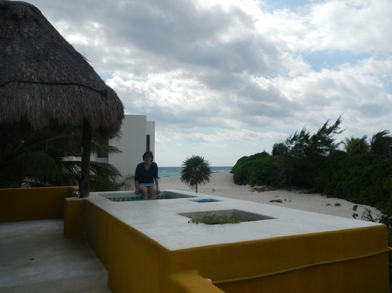Al Cielo Hotel: Roof deck with small plunge pool, hammock