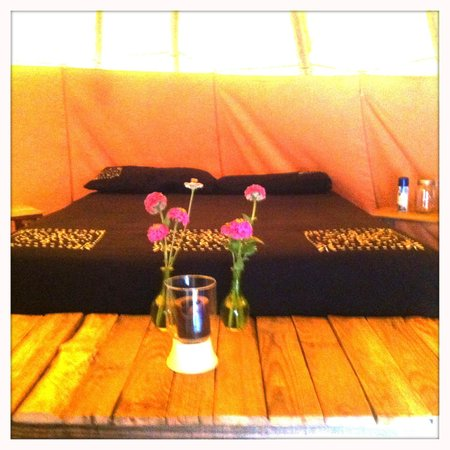 Healing Holidays: Very comfortable inside the tipi