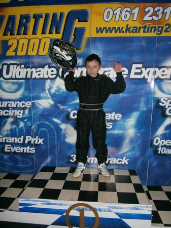 Karting2000: grandson enjoying his win