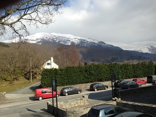 Llanberis Lodges: view from the balcony