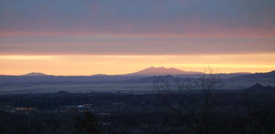 Whispering Pines Bed and Breakfast: Dawn over Prescott -- from Whispering Pines