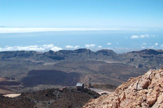 Volcan El Teide: Widok ze szczytu na kalderę wulkanu
