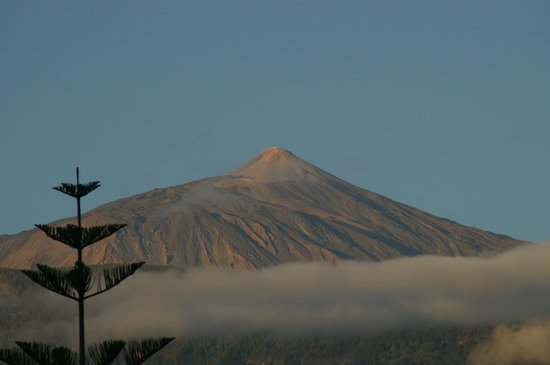 Volcan El Teide: Widok El Teide z hotelowego balkonu