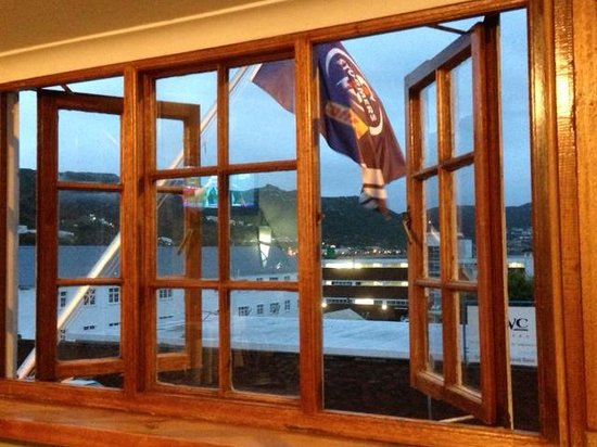 Two & Sixpence Tavern: Naval harbour view